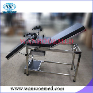 Adjustable Stainless Steel Examination Table with Drawer and Waste Basin pictures & photos