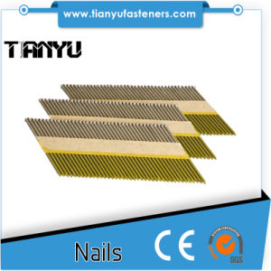 34 Degree D Head 3.4/90mm Galv Plain Bea Paper Collated Strip Nails pictures & photos