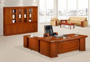 Antique Office Executive Desk Solid Wood Chinese Furniture pictures & photos