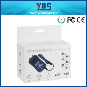 Ce EU Wall Mounted AC DC 12W 1A Universal Power Adapter pictures & photos