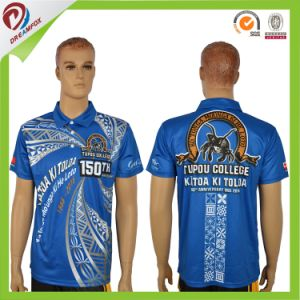 Breathable 100% Polyester Sublimation Quick Dry Custom Men Polo Shirt pictures & photos