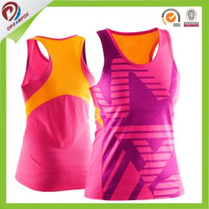 Singlet Factory Cheap OEM Custom Design Printed Running Fashion Singlet pictures & photos