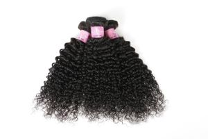 "High Quality 100% Human Hair Weaving Jerry Curl 18"" Brown Color #1b pictures & photos"