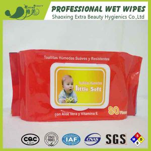 Biodegradable Alcohol Free Baby Wipes Non Allergenic Wet Tissue pictures & photos