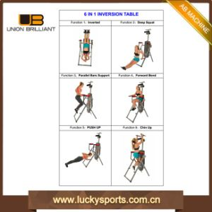 Physiotherapy Exercise Equipment Chair 6 Function Inversion Table pictures & photos