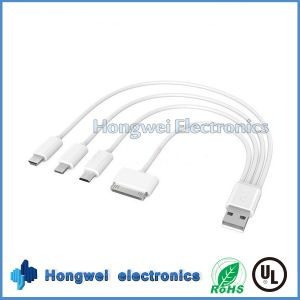 Multifunctional 4 in 1 Mini Micro Charging and Data USB Cable pictures & photos