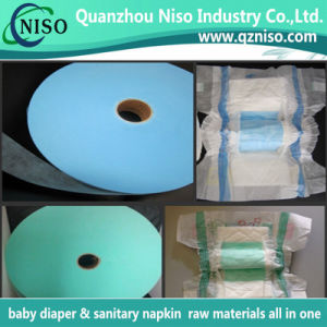 2016 New Products SGS Certification Blue Air-Through Adl Nonwoven Fabric for Baby Diaper pictures & photos