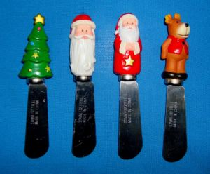 Christmas Decorative Stainless Steel Spreader with Resin Handle pictures & photos