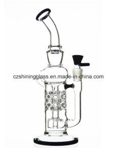Shining Pop Glass Water Smoking Pipe DAB Recycler Oil Rigs pictures & photos