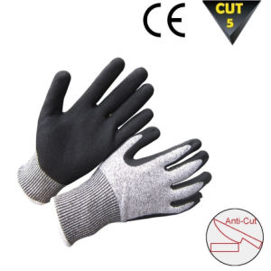 High Visible Hppe Cut Resistant Safety Work Glove pictures & photos