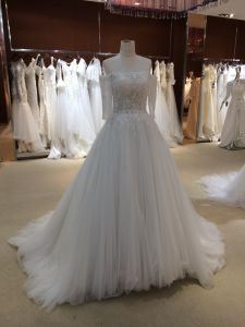 Trendy Princess Wedding Dress with Sleeves pictures & photos