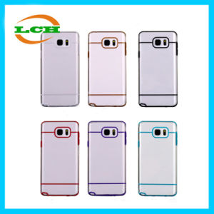 Bicolors Clear Transparent TPU Phone Cases for Samsung Note 5/4/3 pictures & photos