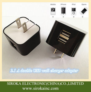 Us Folding Plug Universal Dual USB Cell Phone Charger for Smartphone pictures & photos