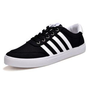 Men′s Casual Shoes in Summer 2017 Explosion of Fashion Sports Shoes Breathable Canvas Popular White Shoes pictures & photos