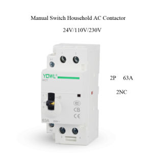2p 63A Ict Manual Control Household Electrical AC Contactor pictures & photos