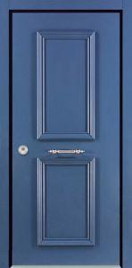 Single Leaf Flat Israel Secuiry Steel Door
