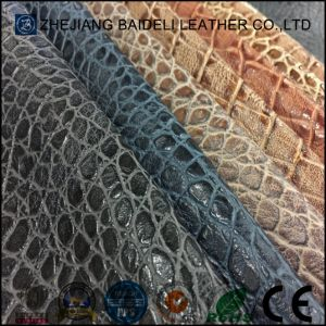 Fashion Accessories Crocodile Grain PU Material Leather for Bags, Furniture Decoration pictures & photos