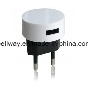 White Black Round Shape USB Charger Home Charger Travel Charger pictures & photos