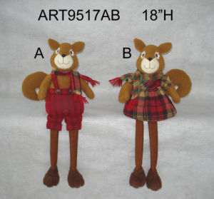 "18""H Boy & Girl Christmas Decoration Squirrel Sitter-2asst. pictures & photos"