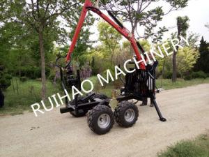 ATV Log Backhoe Loader Trailer with Harvester Head for Tractor Parts