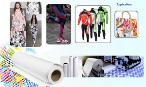 Skyimage Fs105GSM 1.88m High Weight Semi-Sticky Inkjet Sublimation Paper for Lycra/Spandex/Elastics Fabric pictures & photos
