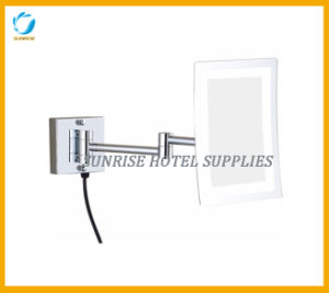 Square Makeup Magnifying Mirror with Light pictures & photos