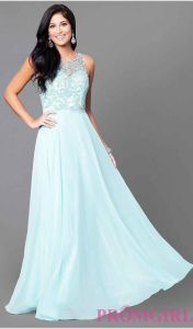 2017 Long A-Line Cocktail Party Prom Evenig Dresses Pg007 pictures & photos