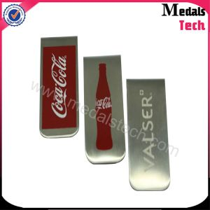 UAE Falcon Stainless Steel Printing Logo Part Money Clip pictures & photos
