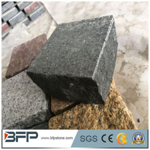 Wholesale Natural Split Basalt Cobble Stone Interlocking Paving Stone for Walkway pictures & photos