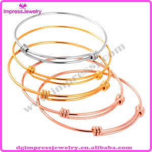 Wholesale Cheap Expandable Wire Bangle Gold Adjustable Cable Women′s Bracelet (IJB0313) pictures & photos