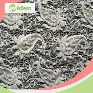 Garment Accessories Embroidered Bright Red Sequin Eyelash Lace Fabric pictures & photos