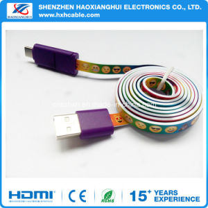 New Type Spiral Wire with Cute Cartoon Printed USB Cable pictures & photos