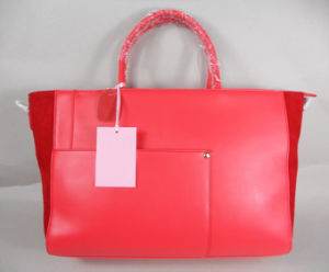 Guangzhou Supplier Fashionable Red Women Handbag Bag (199)
