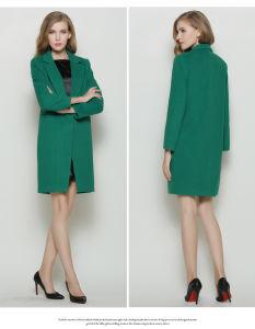2016 New Fashion Long Stylu Autumn Winter Women′s Coat pictures & photos
