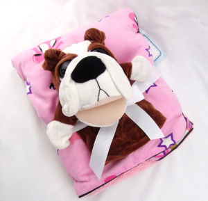 Baby Blanket with Plush Toy -Pug (SFT01BB020-1) pictures & photos