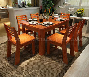 Solid Wooden Dining Table Living Room Furniture (M-X2921) pictures & photos