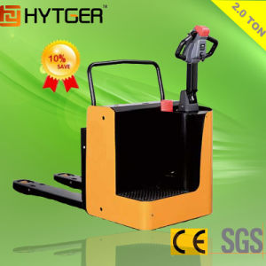 2ton High Quality Side Stand Type Electric Pallet Truck with Charger pictures & photos