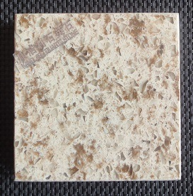China Hot-Sale High Quality Artificial Composite Quartz Stone Double Colors