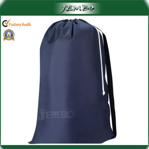 Nylon Strong Shoulder Strip Drawstring Laundry Bag for Laundromat pictures & photos