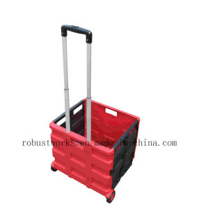 Plastic Folding Shopping Cart (FC403BR-2-1) pictures & photos