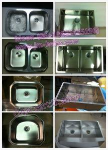Stainless Steel Handmade Apron Double Bowl Zero Radius Customize Kitchen Sink pictures & photos