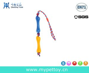 Rubber Bone with Rope Pet Toy pictures & photos