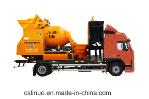 Self Loading Construction Machine Diesel Energy Concrete Mixer Pump with Truck