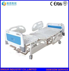 Best Sale Hospital Furniture Manual Three Crank Medical Nursing Beds pictures & photos