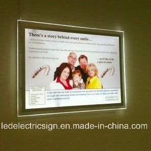 Magic Mirror Crystal Advertising LED Light Box pictures & photos