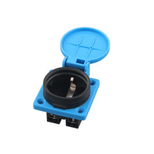 Ce VDE 16A IP54 Waterproof Euro German Schuko Power Plug Outlet Socket Receptacle for Industrial Electrical Generator with Protection Gates (050301) pictures & photos