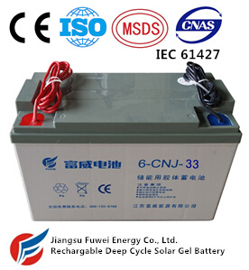 12V 33ah Solar Wind Energy Storage AGM Battery