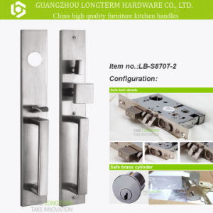 Luxury Stainless Steel Lock Set with ISO Certification (LB-S8707-2) pictures & photos