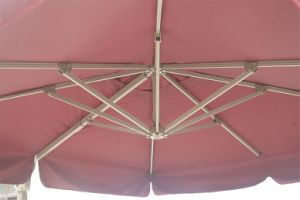 Patio 10 FT Square Easy Open Offset Outdoor Umbrella Square Parasol with Cross Base, Yellow pictures & photos