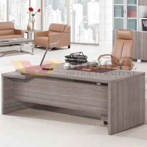 Modern Silver Pine Wood Panel Luxury Executive Desk For Office Furniture